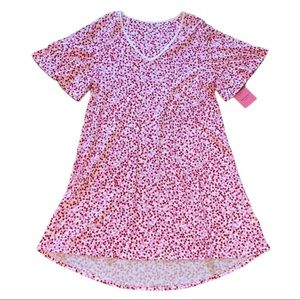 NWT Kate Spade Pink Hearts Nightgown Small